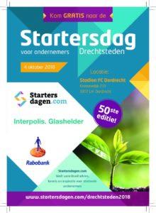 Startersdagen Dordrecht op 4 oktober 2018, kom jij ook?