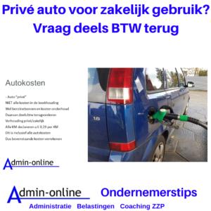 Prive auto ook voor zakelijk gebruik? Boek € 0,19 per kilometer in de kosten.