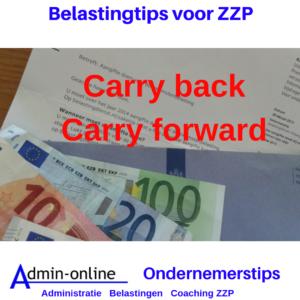 ZZP Belastingtip: Verlies? Carry back!