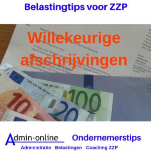 ZZP Belastingtips: Starter? Let dan op of willekeurige afschrijvingen gunstig is.
